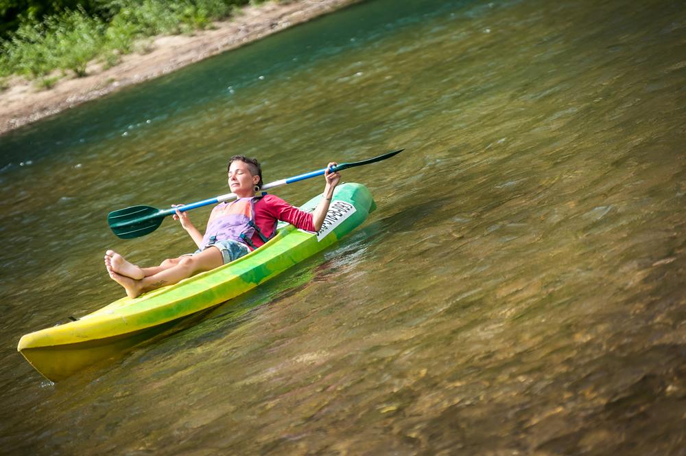 canoa k1, en el rio sella